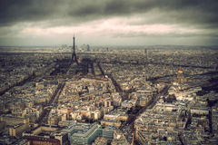 Eiffel tower, Paris. View from the Montparnasse Royalty Free Stock Images