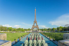 Eiffel Tower in Paris view from Trocadero Royalty Free Stock Images