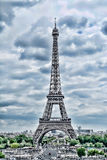 Eiffel Tower in Paris. Vintage HDR view. Tour Eiffel HDR style. royalty free stock photos