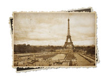 Eiffel tower in Paris vintage sepia toned postcard isolated Royalty Free Stock Photo
