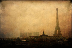 Eiffel Tower in Paris with vintage style texture Stock Photos