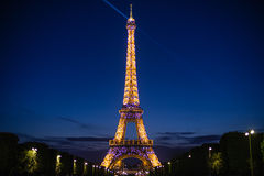 Sprakling Eiffel Tower and the Parisian Dream Stock Images