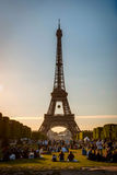 Eiffel tower with park around, Paris Royalty Free Stock Images