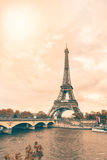 The Eiffel Tower in pastel colors Stock Photo