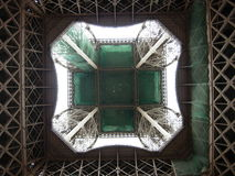 Eiffel Tower perspective. Picture of the  eiffel tower taken from below Stock Photos