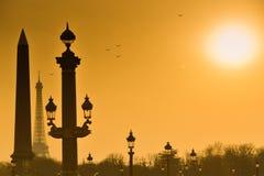 Eiffel Tower and Place de la Concorde Stock Images