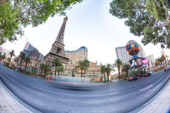 Eiffel Tower and Planet Hollywood hotels royalty free stock image
