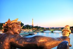 Eiffel Tower from Pont Alexandre III, Paris Royalty Free Stock Images