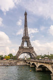 Eiffel Tower and the Pont d'Iena in Paris, France Royalty Free Stock Photo