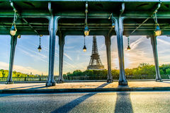 Eiffel tower from Pont de Bir-Hakeim Royalty Free Stock Image