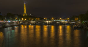 Eiffel Tower and Pont des Invalides view from Pont Alexandre III Royalty Free Stock Photo