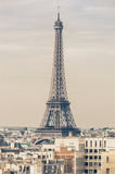 Eiffel tower postcard Stock Photography