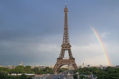 Eiffel tower. Rainbow of the Eiffel Tower Stock Images