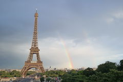 Eiffel tower. Rainbow of the Eiffel Tower Royalty Free Stock Photos