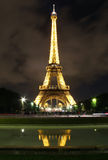 Eiffel Tower reflection Royalty Free Stock Photography