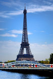 Eiffel Tower and Regional Train in Paris France Royalty Free Stock Images