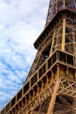 Eiffel Tower renovation Royalty Free Stock Images