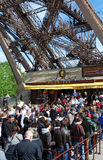 Eiffel Tower reopened after strike Stock Photo