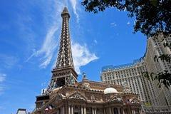 Eiffel Tower replica, Las Vegas. Eiffel Tower replica (541 ft. high), Paris Las Vegas Hotel and Casino, Nevada Royalty Free Stock Photos