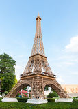 Eiffel tower replica in mini siam Royalty Free Stock Image