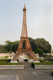 Eiffel tower replica in Mini Siam Park Stock Photo