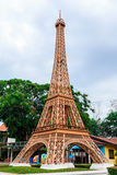 Eiffel tower replica in Mini Siam ,Thailand Stock Photo