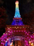 The Eiffel tower replica in the night Stock Photography