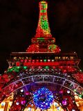 The Eiffel tower replica in the night Royalty Free Stock Image