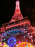 The Eiffel tower replica in the night Stock Photos