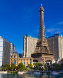 Eiffel Tower replica at Paris Hotel and Casino Stock Image