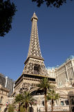 Eiffel Tower replica at the Paris Hotel and Casino in Las Vegas Stock Image