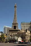 Eiffel Tower replica at the Paris Hotel and Casino in Las Vegas Stock Photos