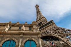 Eiffel Tower Replica at Paris Hotel and Casino - Las Vegas, Nevada, USA Stock Photo
