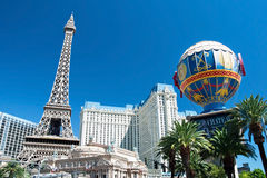 Eiffel Tower restaurant and Montgolfier Balloon on the Las Vegas Royalty Free Stock Photos
