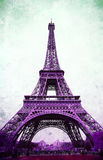 Eiffel Tower - retro postcard styled Stock Image