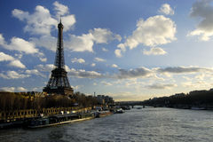 Eiffel Tower and the river Seine. Royalty Free Stock Photo
