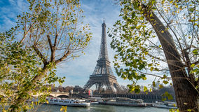 The Eiffel tower and the river Seine in Paris, France Stock Photo