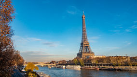 The Eiffel tower and the river Seine in Paris, France Stock Image