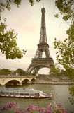 Eiffel tower river view Royalty Free Stock Photography