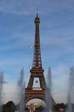 Eiffel Tower, Roland Garros tennis ball in Paris, France Stock Photos