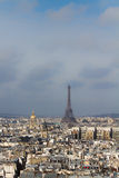 Eiffel Tower and roofs of Paris Stock Photos