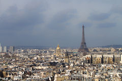 Eiffel Tower and roofs of Paris Stock Photo