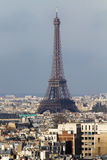 Eiffel Tower and roofs of Paris Royalty Free Stock Image