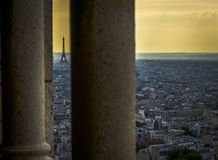 Eiffel Tower from  Sacre-C�ur Stock Images