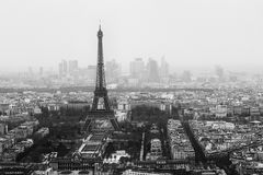 Eiffel tower scenery. Photo of Eiffel Tower in Paris Royalty Free Stock Images