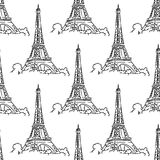 Eiffel Tower seamless background pattern Royalty Free Stock Image