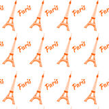 Eiffel tower seamless pattern. Vector illustration. Background. Royalty Free Stock Photography