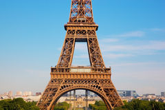 Eiffel Tower section, Paris, France Royalty Free Stock Photos