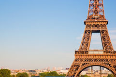 Eiffel Tower section, Paris, France Stock Photos