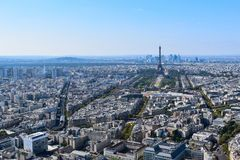 Eiffel Tower seen from Montparnasse Tower Observation Deck royalty free stock photo
